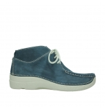 wolky lace up shoes 06290 roll base 10870 blue nubuck