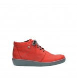 wolky chaussures a lacets 08126 babylon 50500 nubuck rouge