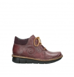 wolky lace up shoes 08384 gallo 50510 burgundy oiled leather
