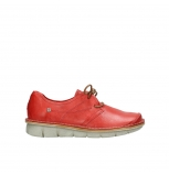 wolky lace up shoes 08387 milton 30500 red leather