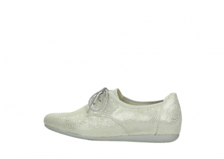 wolky lace up shoes 00112 stuart 20120 off white silver printed leather_2