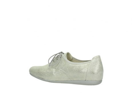 wolky lace up shoes 00112 stuart 20120 off white silver printed leather_3
