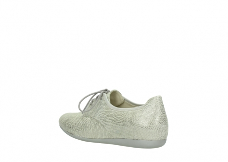 wolky lace up shoes 00112 stuart 20120 off white silver printed leather_4