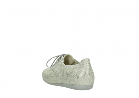 wolky lace up shoes 00112 stuart 20120 off white silver printed leather_5