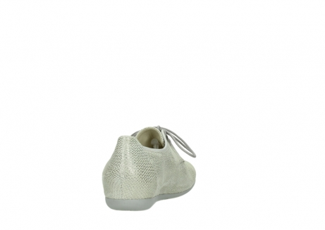 wolky lace up shoes 00112 stuart 20120 off white silver printed leather_8