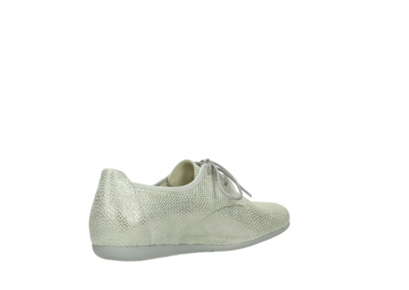 wolky lace up shoes 00112 stuart 20120 off white silver printed leather_10