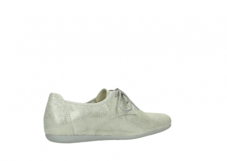 wolky lace up shoes 00112 stuart 20120 off white silver printed leather_11