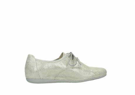 wolky lace up shoes 00112 stuart 20120 off white silver printed leather_12