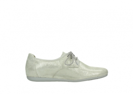 wolky lace up shoes 00112 stuart 20120 off white silver printed leather_13