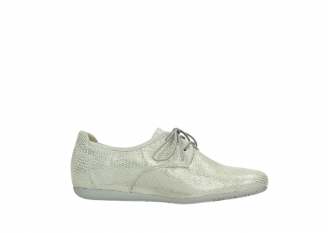wolky lace up shoes 00112 stuart 20120 off white silver printed leather_14
