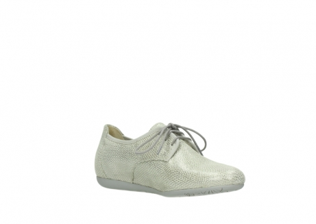 wolky lace up shoes 00112 stuart 20120 off white silver printed leather_16