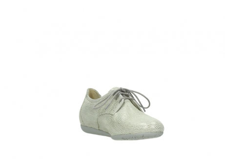 wolky lace up shoes 00112 stuart 20120 off white silver printed leather_17