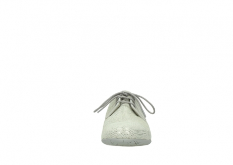 wolky lace up shoes 00112 stuart 20120 off white silver printed leather_19