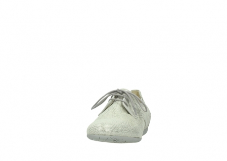 wolky lace up shoes 00112 stuart 20120 off white silver printed leather_20