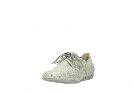 wolky lace up shoes 00112 stuart 20120 off white silver printed leather_21