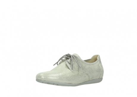 wolky lace up shoes 00112 stuart 20120 off white silver printed leather_22
