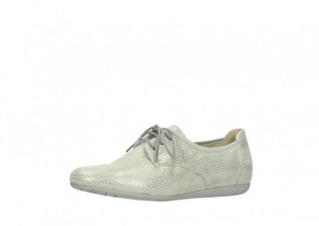 wolky lace up shoes 00112 stuart 20120 off white silver printed leather_23