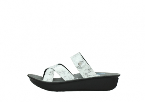 wolky slippers 00878 barbados 70110 white black canal leather_1