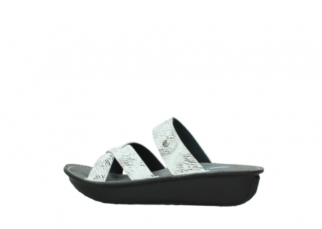 wolky slippers 00878 barbados 70110 white black canal leather_2