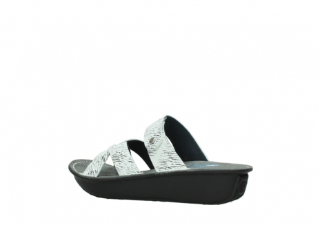 wolky slippers 00878 barbados 70110 white black canal leather_3
