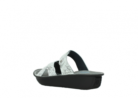 wolky slippers 00878 barbados 70110 white black canal leather_4