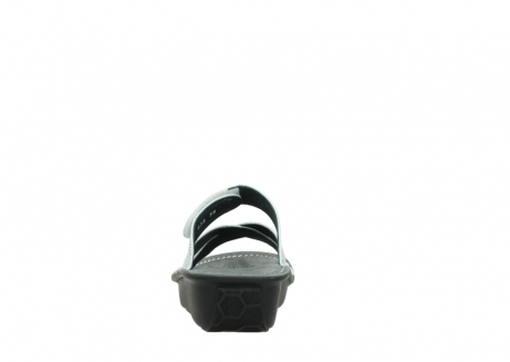 wolky slippers 00878 barbados 70110 white black canal leather_7