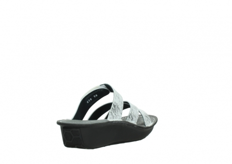 wolky slippers 00878 barbados 70110 white black canal leather_9