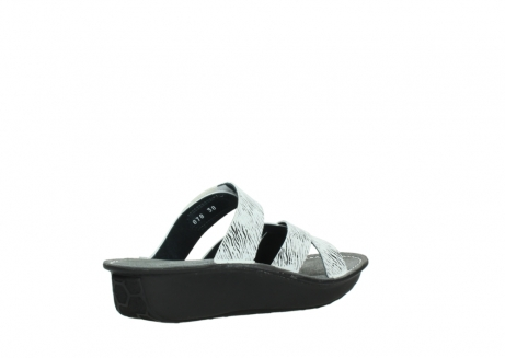 wolky slippers 00878 barbados 70110 white black canal leather_10