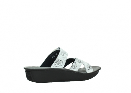 wolky slippers 00878 barbados 70110 white black canal leather_11