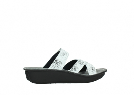wolky slippers 00878 barbados 70110 white black canal leather_12