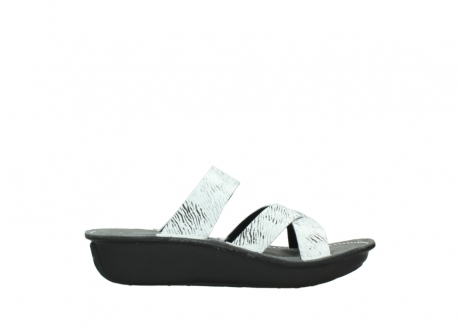 wolky slippers 00878 barbados 70110 white black canal leather_13