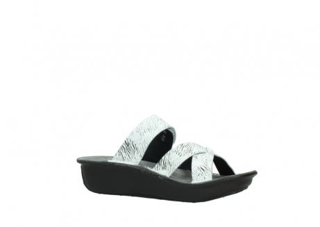 wolky slippers 00878 barbados 70110 white black canal leather_15