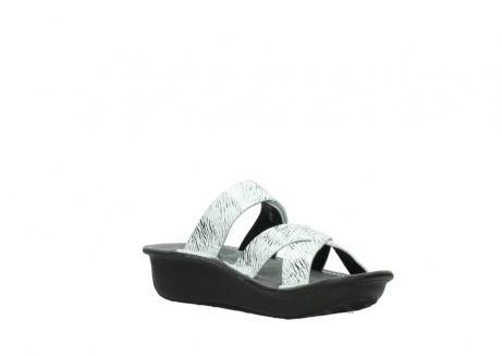 wolky slippers 00878 barbados 70110 white black canal leather_16