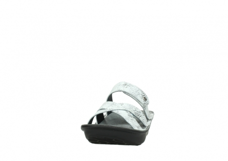 wolky slippers 00878 barbados 70110 white black canal leather_20