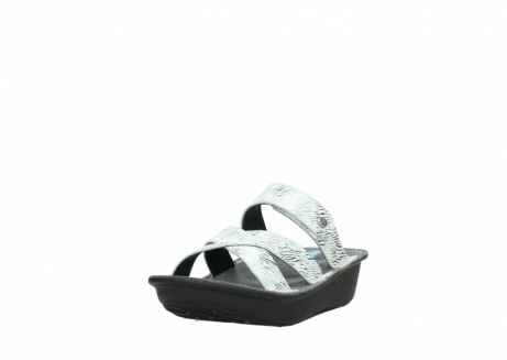 wolky slippers 00878 barbados 70110 white black canal leather_21