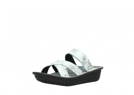 wolky slippers 00878 barbados 70110 white black canal leather_22