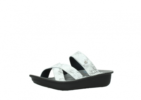 wolky slippers 00878 barbados 70110 white black canal leather_23