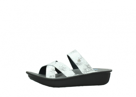 wolky slippers 00878 barbados 70110 white black canal leather_24
