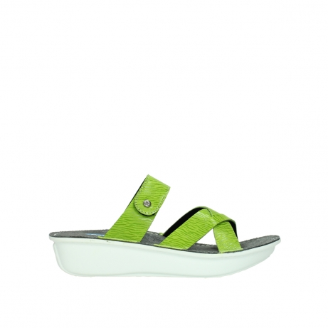 wolky slippers 00878 barbados 70750 lime leather