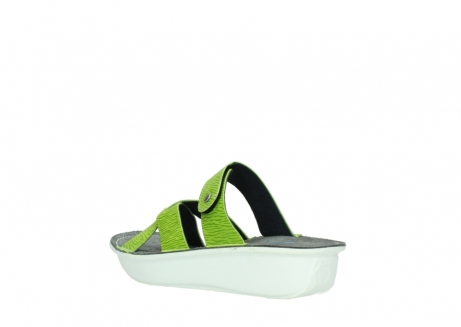 wolky slippers 00878 barbados 70750 lime leather_4