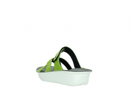 wolky slippers 00878 barbados 70750 lime leather_5