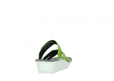 wolky slippers 00878 barbados 70750 lime leather_8