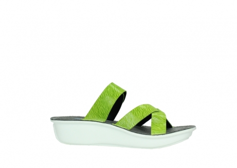 wolky slippers 00878 barbados 70750 lime leather_14