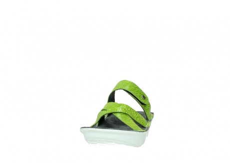 wolky slippers 00878 barbados 70750 lime leather_20