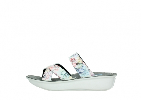 wolky slippers 00878 barbados 70980 white multi color canal leather_1