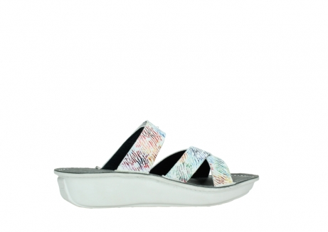 wolky slippers 00878 barbados 70980 white multi color canal leather_12