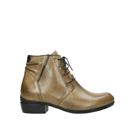 wolky lace up boots 00955 delano 30920 ocre leather