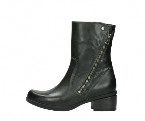 wolky mid calf boots 01376 rialto 30732 forestgreen leather_1