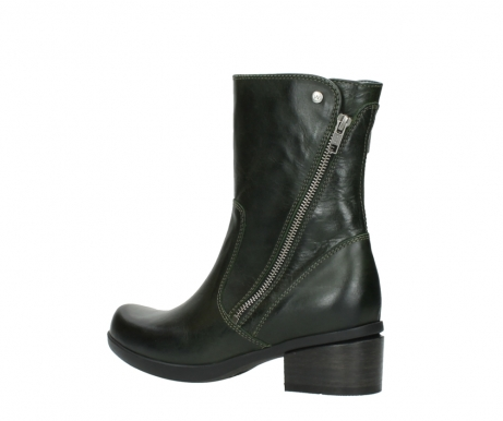wolky mid calf boots 01376 rialto 30732 forestgreen leather_3