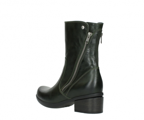wolky mid calf boots 01376 rialto 30732 forestgreen leather_4